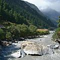 View Along River Marpha To Ghasa by Serena Bowles