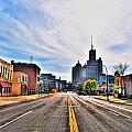 View Down Broadway Into Downtown Buffalo Ny by Michael Frank Jr