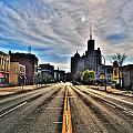 View Down Broadway Into Downtown Buffalo Ny Vert by Michael Frank Jr
