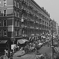 View From Rivington Street On New York by Everett