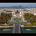 View From The Second  Floor Of Eiffel Tower by Anna A. Krømcke