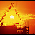View Of A Construction Site At Sunset by Jeremy Walker