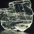 View Of A Sample Of Selenite, A Form Of Gypsum by Kaj R. Svensson