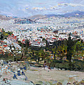 View Of Athens From Acropolis by Ylli Haruni