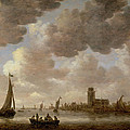 View Of Dordrecht Downstream From The Grote Kerk by Jan Josephsz van Goyen