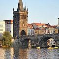 View Of Karluv Most Prague by Nimmi Solomon