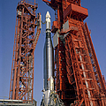 View Of Launch Pad 14 During Prelaunch by Stocktrek Images