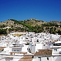 View Of Mijas Hilltop White Homes Spain by John Shiron