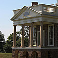 View Of South Portico At Poplar Forest by Teresa Mucha