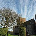 View Of St Mary Church And Clouds In Dover Castle by Ashish Agarwal