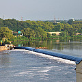 View Of The Fairmount Dam  by Bill Cannon