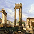 View Of The Roman Forum by Jodocus Sebasiaen Adeele