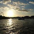 View Of The Thames At Sunset With London Eye In The Background by Ashish Agarwal
