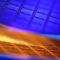 View Of Two Silicon Wafers With Their Chips by Chris Knapton