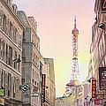 View On Eiffel Tower From Rue Saint Dominique Paris France by Irina Sztukowski