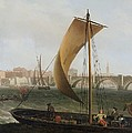 View On The Thames With Westminster Bridge by Samuel Scott