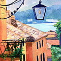 View To Lake Como by Linda Scott