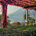Villa Cipressi Pergola On Lake Como I by Greg Matchick