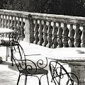Villa Lecchi Terrace 2 Sepia by Vicki Hone Smith