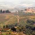 Villa On A Hill In Tuscany by Greg Matchick