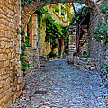Village Lane Provence France by Dave Mills