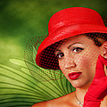 Vintage - Red Hat Lady by Trudy Wilkerson