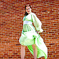 Vintage 1940's Green Dress 2 by Zachary Ward