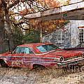 Vintage 1950 1960 Ford Galaxy Red Car Photo by Svetlana Novikova