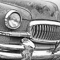 Vintage 1951 Nash Ambassador Front End 2 Bw by James BO  Insogna