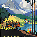Vintage Austrian Travel Poster by George Pedro