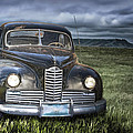Vintage Auto On The Prairie by Randall Nyhof