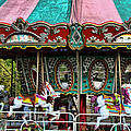 Vintage Circus Carousel - Merry-go-round by Kathy Clark