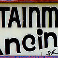 Vintage Dance Sign by Andrew Fare
