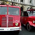 Vintage Fire Truck Duo by Tony Grider