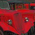 Vintage Fire Truck Techno Art by Tony Grider