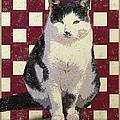 Vintage French Bistro Cat by Flo Karp