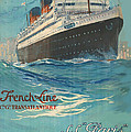 Vintage French Line Travel Poster by George Pedro