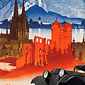 Vintage Germany Travel Poster by George Pedro