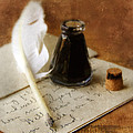 Vintage Letter And Quill Pen by Jill Battaglia