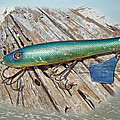 Vintage Lido Flaptail Saltwater Fishing Lure by Mother Nature