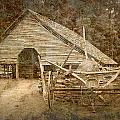 Vintage Looking Old Barn In The Great Smokey Mountains by Randall Nyhof