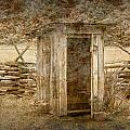 Vintage Looking Old Outhouse In The Great Smokey Mountains by Randall Nyhof