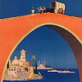 Vintage Mediterranean Travel Poster by George Pedro