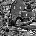 Vintage Mill In Black And White by Paul Ward