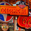 Vintage Neon Sign Oldsmobile by Bob Christopher