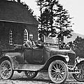 Vintage Photo Of Men In Truck by Susan Leggett