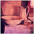 Vintage Pitcher And Wash Basin by Jill Battaglia