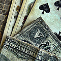 Vintage Playing Cards And Cash by Jill Battaglia
