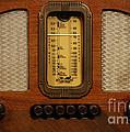 Vintage Radio by Dennis Hedberg