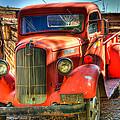 Vintage Red Dodge by Jon Berghoff